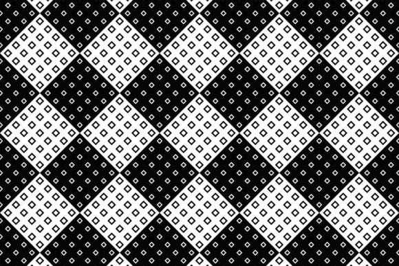 Seamless Monochrome Square Pattern Graphic Patterns By davidzydd
