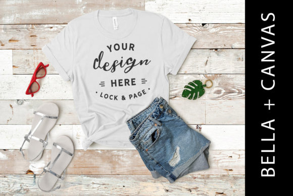 Download Free Silver Bella Canvas 3001 T Shirt Mockup Graphic By Lockandpage SVG Cut Files