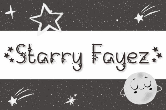 Download Free Starry Fayez Font By Nuraisyahamalia1729 Creative Fabrica for Cricut Explore, Silhouette and other cutting machines.