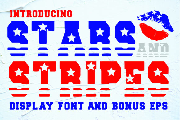 Print on Demand: Stars and Stripes Display Font By Mr.pagman