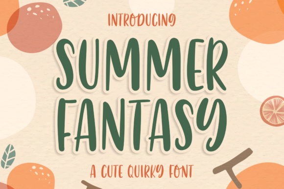 Print on Demand: Summer Fantasy Script & Handwritten Font By syakaltype