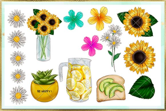 Print on Demand: Summer and Beach Cliparts Set Graphic Illustrations By TheGGShop - Image 3