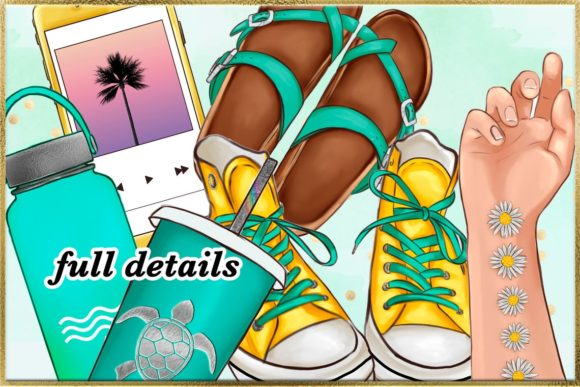 Print on Demand: Summer and Beach Cliparts Set Graphic Illustrations By TheGGShop - Image 8