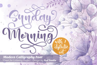 Print on Demand: Sunday Morning Script & Handwritten Font By Asd Studio