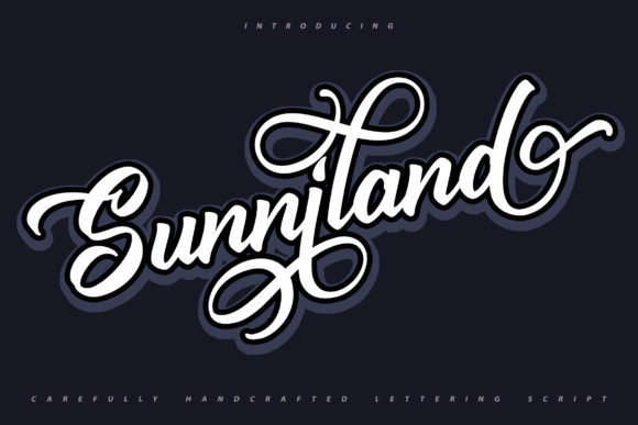 Print on Demand: Sunniland Script & Handwritten Font By Vunira