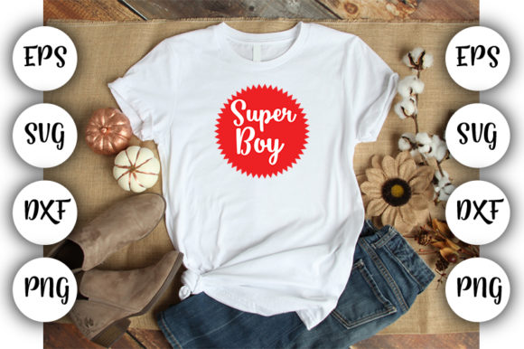 Download Free Super Boy Graphic By Design Store Creative Fabrica for Cricut Explore, Silhouette and other cutting machines.