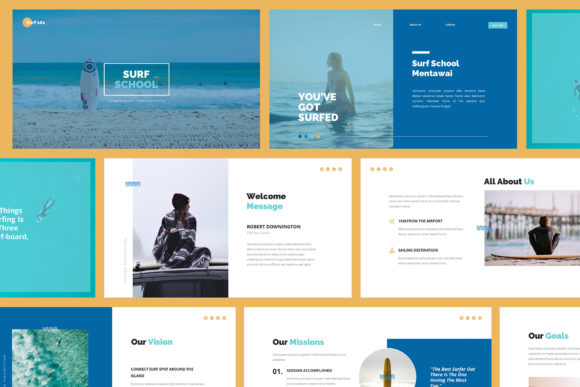Download Free Surfing Google Slides Presentation Graphic By Giant Design for Cricut Explore, Silhouette and other cutting machines.