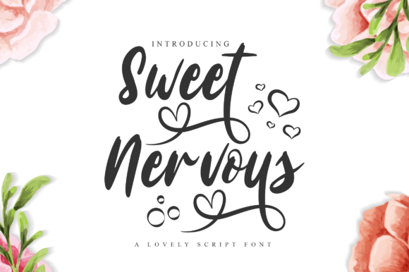 Print on Demand: Sweet Nervous Script & Handwritten Font By fanastudio