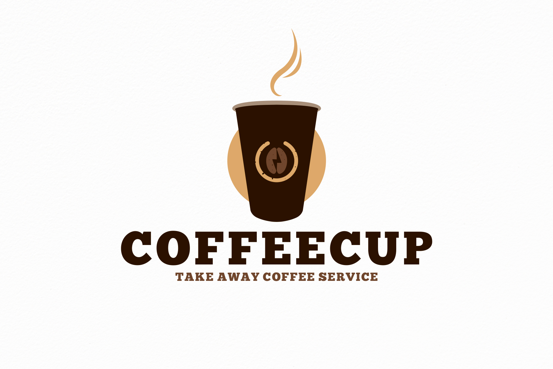 Download Free Take Away Coffee Shop Logo Template Graphic By Vectorwithin for Cricut Explore, Silhouette and other cutting machines.
