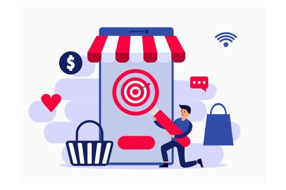 Download Free Target Seo Marketing Online Shop Flat Graphic By Redvy Creative for Cricut Explore, Silhouette and other cutting machines.