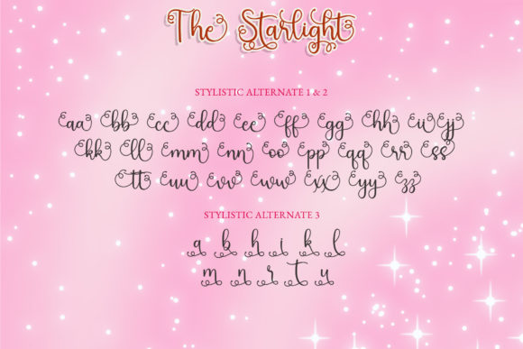 Print on Demand: The Starlight Script & Handwritten Font By airotype - Image 8
