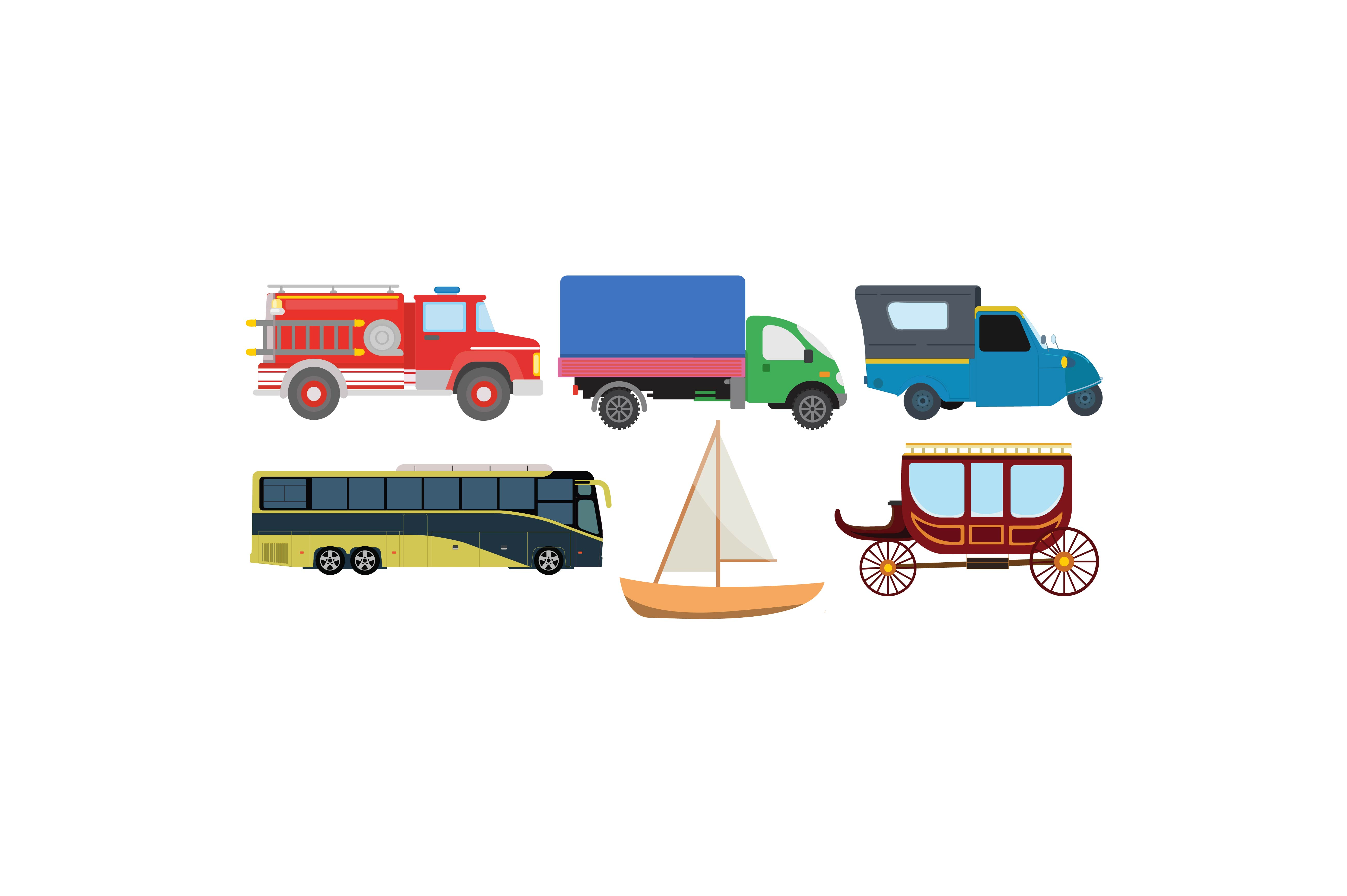 Download Free Transportations Colour Graphic Set Graphic By Printablesplazza for Cricut Explore, Silhouette and other cutting machines.