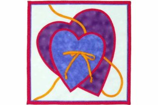 Two Hearts Designer Quilt Block Pattern Gráfico Quilt Patterns Por dena.dale.crain