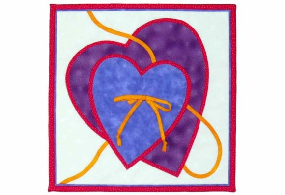 Two Hearts Designer Quilt Block Pattern Graphic Quilt Patterns By dena.dale.crain