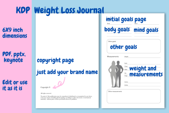 Download Free Weight Loss Journal For Kdp Graphic By Income Plum Creative SVG Cut Files