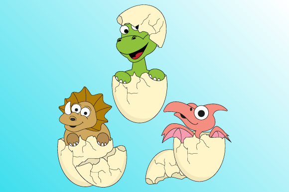 Download Free Dinosaurs And Their Eggshells Graphic By Curutdesign Creative SVG Cut Files