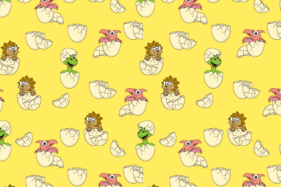Download Free Egg And Dinosaur Pattern Graphic By Curutdesign Creative Fabrica for Cricut Explore, Silhouette and other cutting machines.