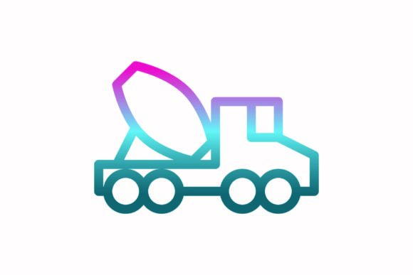 Download Free Truck Rainbow Coloring Icon Graphic By Astuti Julia93 Gmail Com for Cricut Explore, Silhouette and other cutting machines.