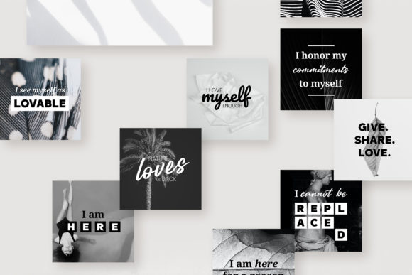 Download Free 111 X Self Love Quotes B W Edition Graphic By Lavie1blonde for Cricut Explore, Silhouette and other cutting machines.
