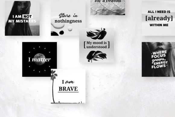 Download Free 111 X Self Love Quotes B W Edition Graphic By Lavie1blonde Creative Fabrica for Cricut Explore, Silhouette and other cutting machines.