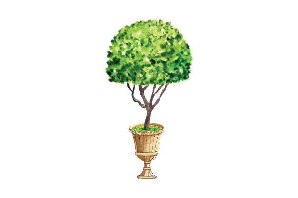 Download Free Topiary Tree In Urn Svg Cut File By Creative Fabrica Crafts for Cricut Explore, Silhouette and other cutting machines.