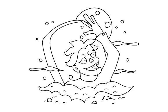 Download Free Zombie Coloring Page Svg Cut File By Creative Fabrica Crafts for Cricut Explore, Silhouette and other cutting machines.