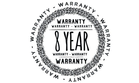 Download Free 8 Years Warranty Graphic By Baraeiji Creative Fabrica for Cricut Explore, Silhouette and other cutting machines.
