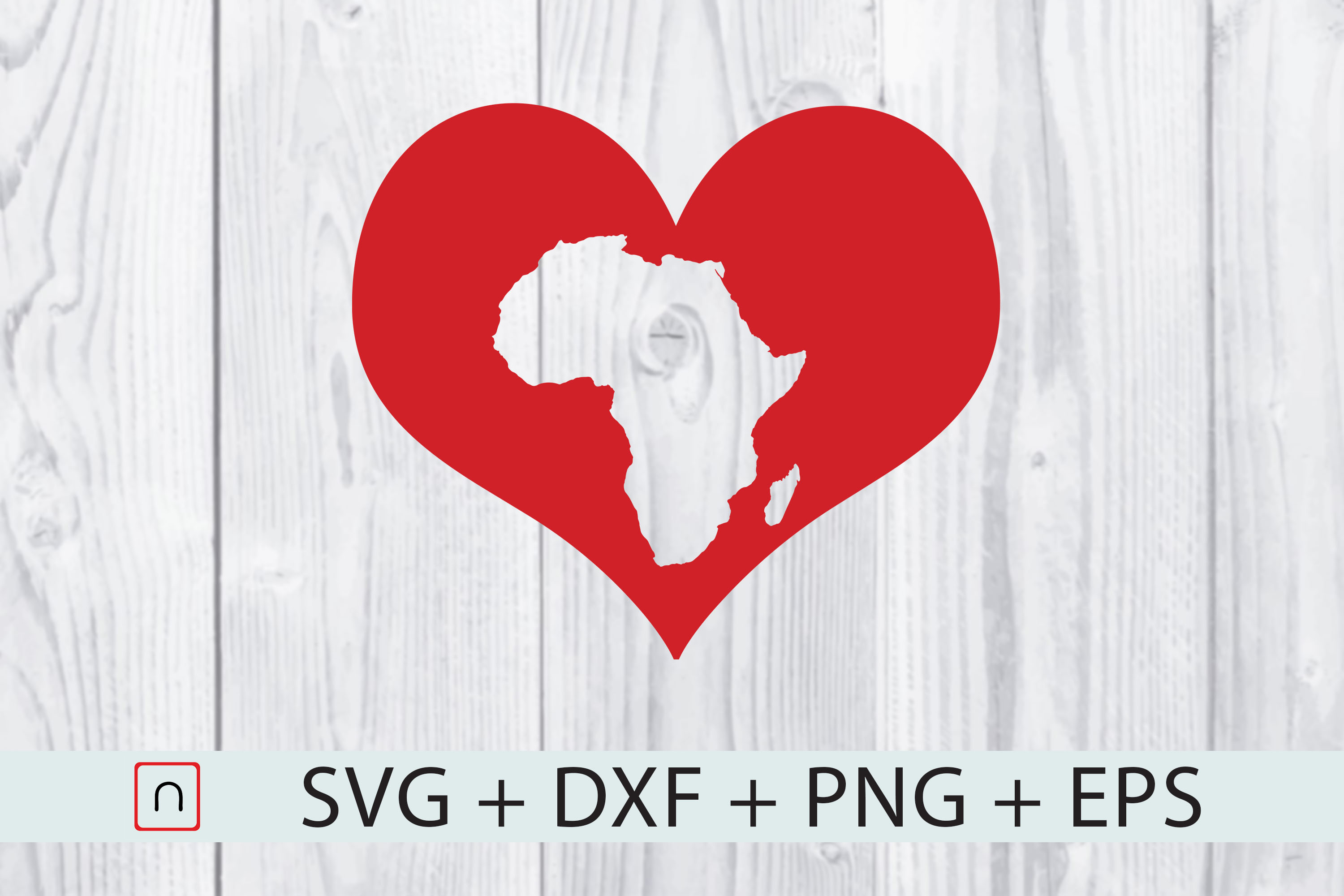 Download Free Africa Map Heart Graphic By Novalia Creative Fabrica for Cricut Explore, Silhouette and other cutting machines.