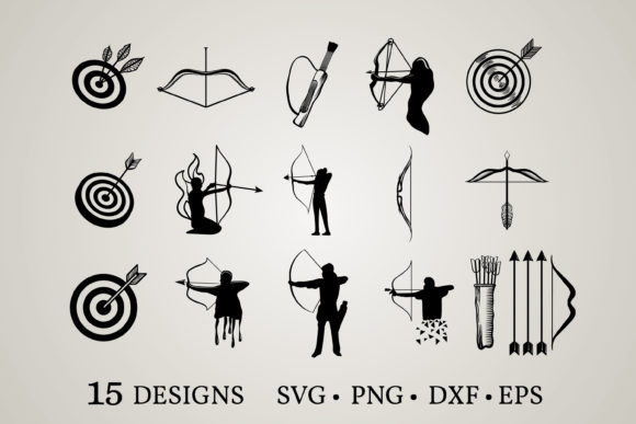 Download Free 1 Archer Svg Designs Graphics for Cricut Explore, Silhouette and other cutting machines.