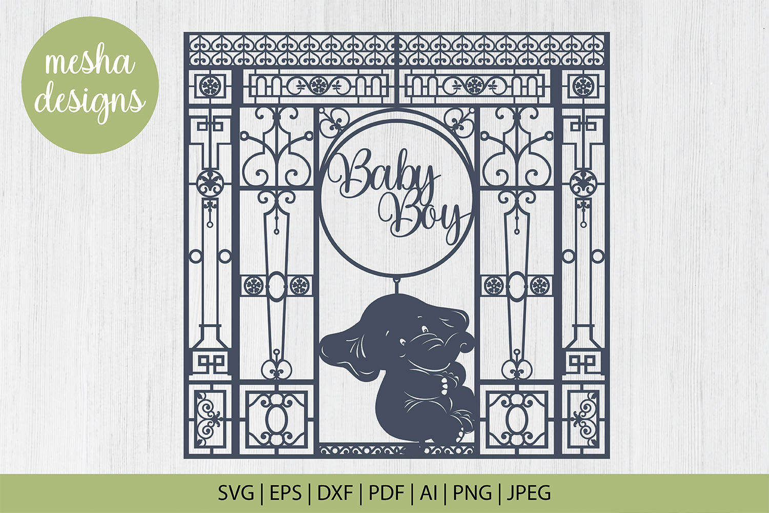 Download Free Baby Boy Frame Paper Cut Graphic By Diycuttingfiles Creative for Cricut Explore, Silhouette and other cutting machines.