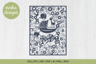 Print on Demand: Baby Frame Paper Cut Graphic Crafts By DIYCUTTINGFILES