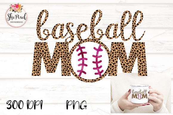 Download Free Baseball Mom Leopard Print Clipart Graphic By Shepixel SVG Cut Files