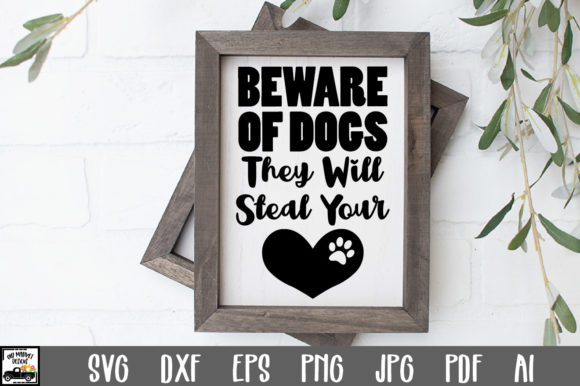 Download Free Beware Of Dogs Cut File Graphic By Oldmarketdesigns Creative for Cricut Explore, Silhouette and other cutting machines.
