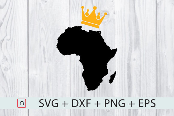 Download Free Black Crown Africa Map Graphic By Novalia Creative Fabrica for Cricut Explore, Silhouette and other cutting machines.