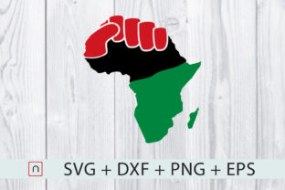 Download Free Black Fist Africa Map Flag Graphic By Novalia Creative Fabrica for Cricut Explore, Silhouette and other cutting machines.