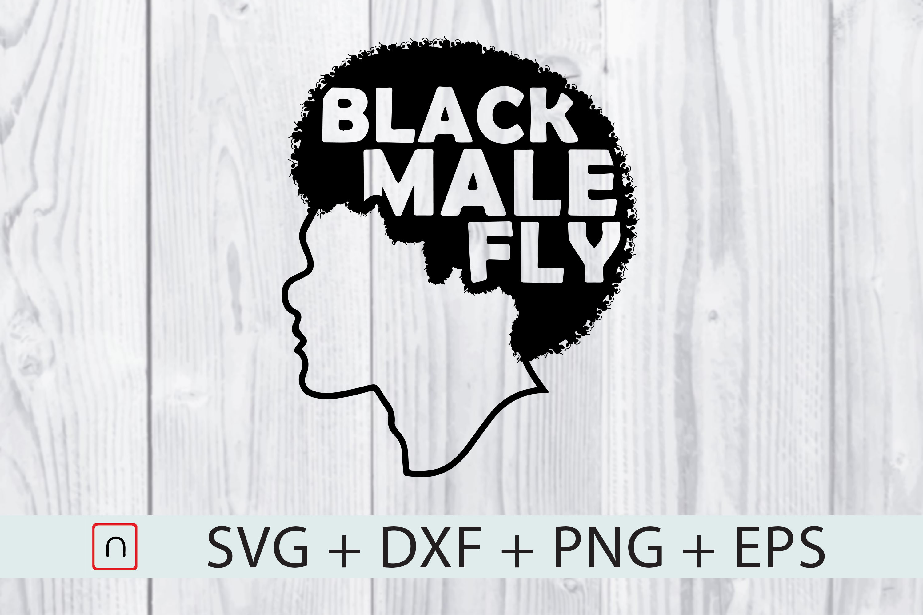 Download Free Black Male Hair Graphic By Novalia Creative Fabrica for Cricut Explore, Silhouette and other cutting machines.