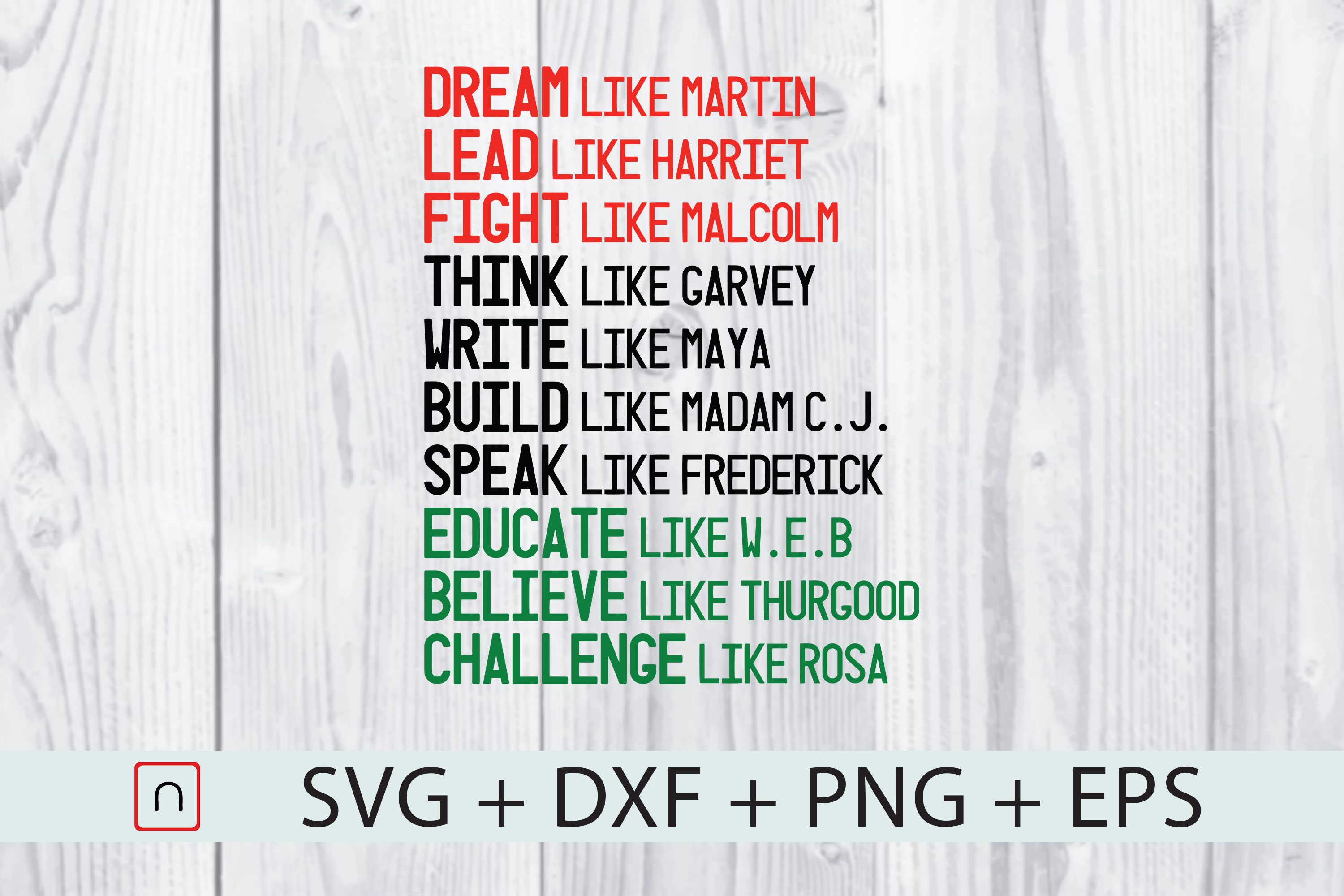Download Free Black Saying Dream Lead Fight Graphic By Novalia Creative for Cricut Explore, Silhouette and other cutting machines.