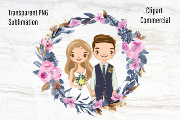 Download Free Bride And Groom Wedding Sublimation Graphic By Blueberry Jam for Cricut Explore, Silhouette and other cutting machines.