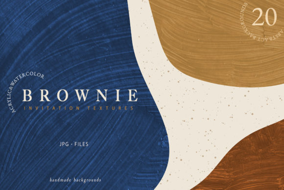 Download Free Brownie Invitation Textures Graphic By Nassyart Creative Fabrica for Cricut Explore, Silhouette and other cutting machines.