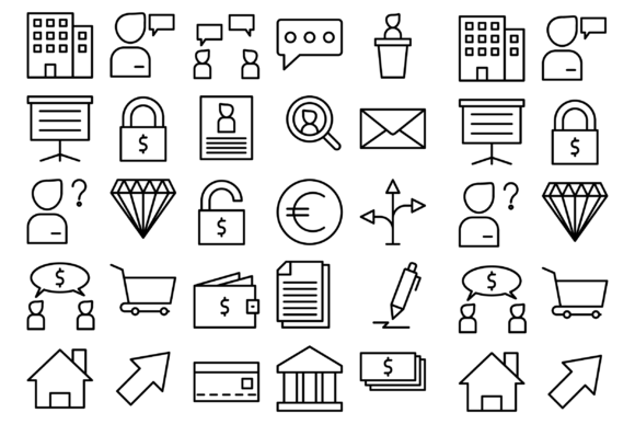 Download Free Business And Purchase Graphic By Designvector10 Creative Fabrica for Cricut Explore, Silhouette and other cutting machines.