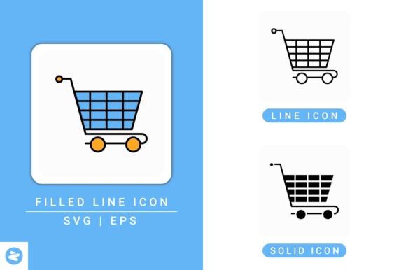 Download Free Cart Icons Set Graphic By Zenorman03 Creative Fabrica for Cricut Explore, Silhouette and other cutting machines.
