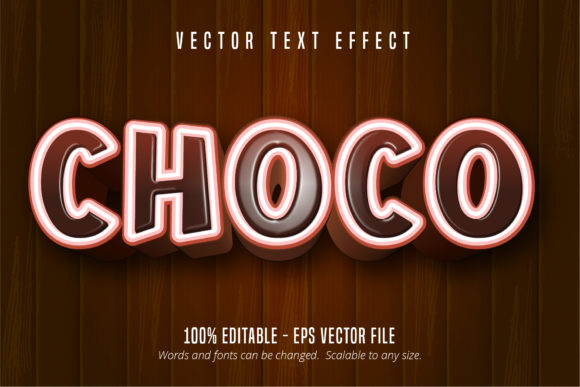 Download Free Chocolate Style Editable Text Effect Graphic By Mustafa Beksen for Cricut Explore, Silhouette and other cutting machines.