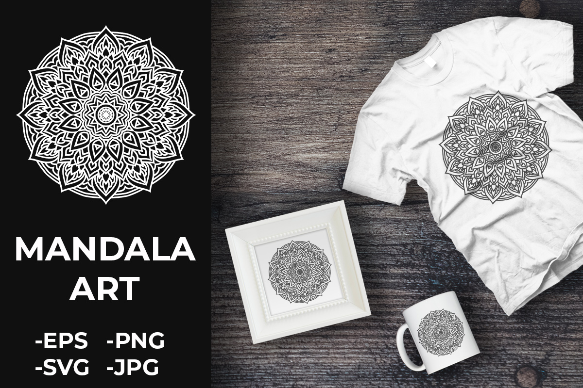 Download Free Circular Pattern Mandala Art 196 Graphic By Azrielmch for Cricut Explore, Silhouette and other cutting machines.