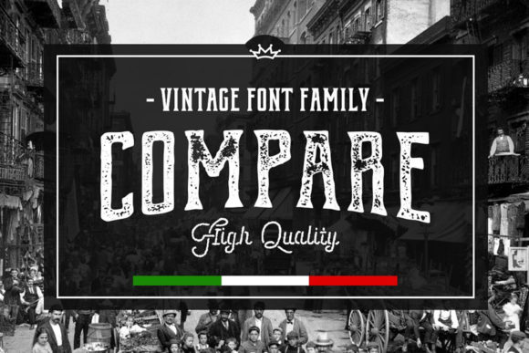Print on Demand: Compare Display Font By vintagevoyageco
