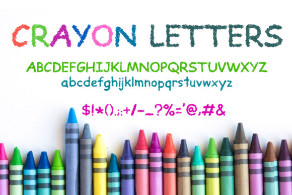 Print on Demand: Crayon Letters Script & Handwritten Font By OWPictures