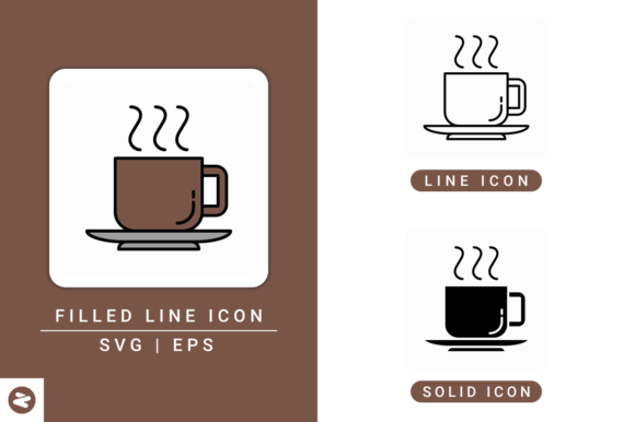 Download Free Cup Of Coffee Icons Set Graphic By Zenorman03 Creative Fabrica for Cricut Explore, Silhouette and other cutting machines.