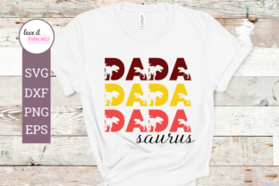 Download Free Dadasaurus Mirror Word Design Graphic By Love It Mirrored for Cricut Explore, Silhouette and other cutting machines.