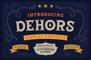 Print on Demand: Dehors Display Font By letterhend