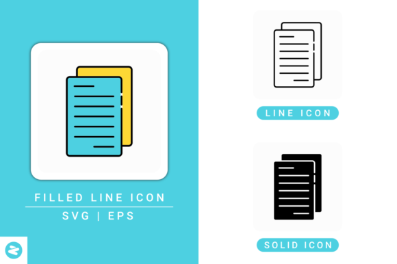 Download Free Document Paper Icons Set Graphic By Zenorman03 Creative Fabrica for Cricut Explore, Silhouette and other cutting machines.