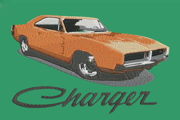 Print on Demand: Dodge Charger `69 Transportation Embroidery Design By Embroidery Shelter
